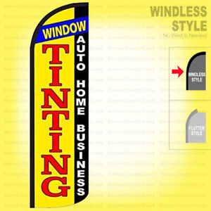Window Tinting Auto Home Business Windless Swooper Flag 3x11 5 Feather Sign Yq