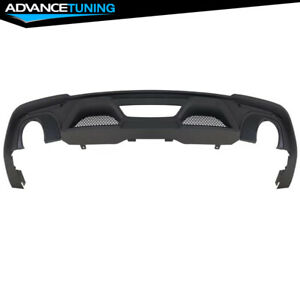 Fits 18 19 Ford Mustang Ecoboost S550 Rear Diffuser Single Outlet Muffler Tip