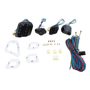 4 Door Pickup Van Car Angled Design Upgrade Universal Power Window Switch Kit