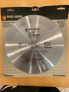 Black decker Contractor Chrome 10 Saw Blade Hollow Ground Plywood