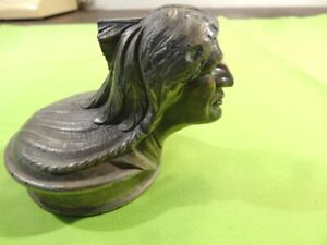 1929 Pontiac Indian Radiator Cap Mascot Hood Ornament S567