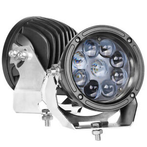 Pair 6inch 90w Cree Led Driving Lights Round Spot Light Bull Bar Offroad Boat 5