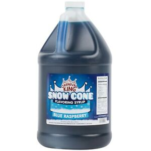 4 Count 1 Gallon Blue Raspberry Snow Cone Slushy Flavor Mix Machine Syrup