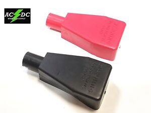 Top Post Battery Terminal Flexible Pvc Boot Cover 2pk Red Black Fits 2 Awg