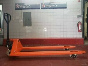 New Long Forks Pallet Jack With 70 Inches Forks 70 x26 3 300 lb Capacity