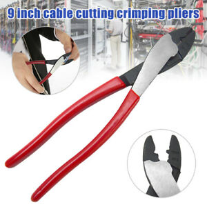 9 Terminal Pliers Cutter Crimper Insulated Crimping Tool Electrical Cable Plier