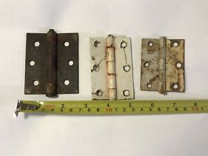 Lot Rustic Chippy Paint Door Hinges Rustyhardware Farmhouse Decor Old Beach Hous