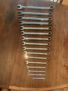 Snap On 16 Pc Combination Wrench Set Standard Sae Used Nice