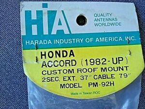 Vintage Honda Accord Pm 92h Roof Mount Car Antenna 1982 1983 1984 1989 Nos