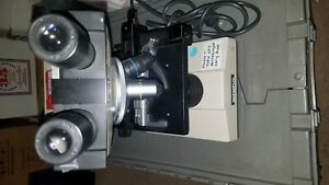 Olympus Cha Microscope 2 Objectives And Condenser