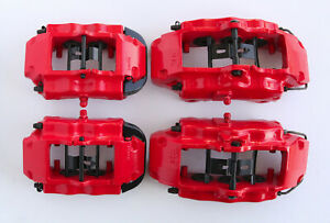 Audi Q7 Porsche Cayenne Vw Touareg Front Rear Brembo Brake Calipers Red 17z