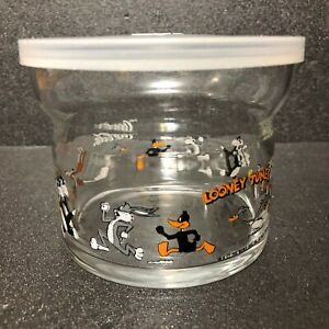 Rare Vintage Coca-Cola Antique Glass Looney Tunes design from Japan