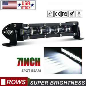 6d 7inch Cree Led Work Light Bar Spot Offroad Atv Fog Truck Lamp 4wd 12v 6