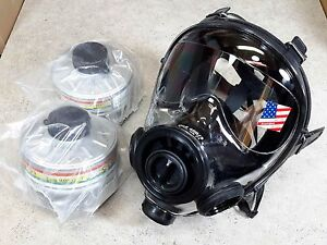 Sge 400 3 Gas Mask W 2x Hi end 40mm Nato Nbc cbrn Filters Premium Protection New
