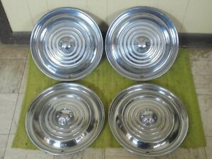 1956 Oldsmobile Hub Caps 15 Set Of 4 Wheel Covers Olds 56