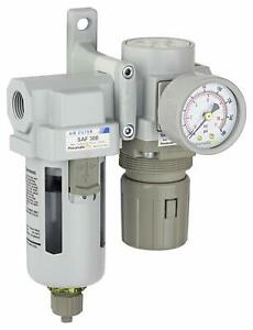 Pneumaticplus Compressed Air Filter Regulator 3 8 Npt Sau320 n03g R