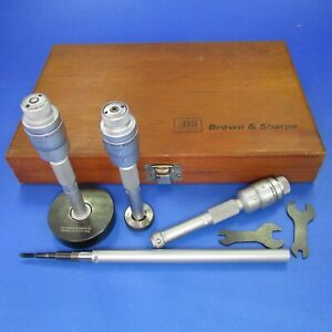 Brown Sharpe 281 Intrimiks 5 8 Internal Micrometer Set Machinist