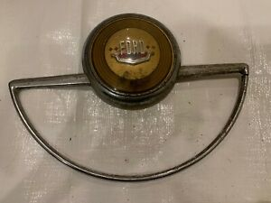 1949 1950 Ford Steering Wheel Ring Chrome Horn Button Cap Pad Emblem