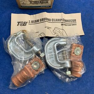 lot Of 2 Thomas And Betts Ibg20 40 Ground Clamp To I Beam