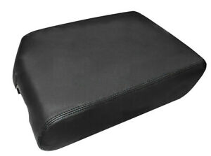 Armrest Center Console Lid Cover Synthetic Leather For 07 13 Toyota Tundra Black