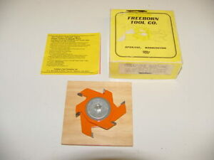 Freeborn Tool 2 piece Wood Cutter Shaper 1 5 8 2 1 1 4 Center Hole Mc 50 New