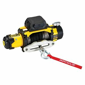 Aprove D9500 Sr 9 500 Lbs Dual Speed Winch W Synthetic Rope