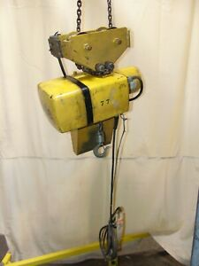 Industrial Yale Electric Chain Hoist 1 2 Ton With Trolley