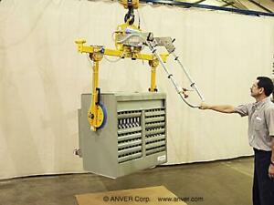 Anver E50m2 126sgmr 500 Lbs Electric Side Grip Vacuum Plate Lifter 115v 1 Ph