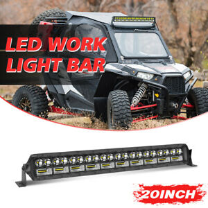 Tri row 20inch Cree Led Light Bar Spot Flood Combo Offroad Ute With Wiring