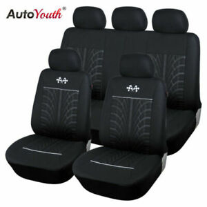 Car Seat Protector Car Interior Decoration Full Set Of Front Rear Black