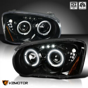 Fits 2004 2005 Subaru Impreza Wrx Outback Led Jet Black Projector Headlights