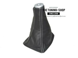 Shift Boot For Toyota Celica 1999 2005 White Stitching Top Plastic Ring