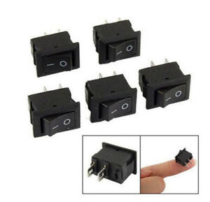 10pcs Spst On off Black Square I o Rocker Switch Mini Small Automotive car boat