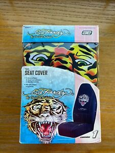 Ed Hardy New Tiger Universal Bucket Seat Car Truck Black Multi Color Cover