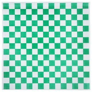4000 Count 15 X 15 Green Check Deli Sandwich Food Packaging Wrap Paper