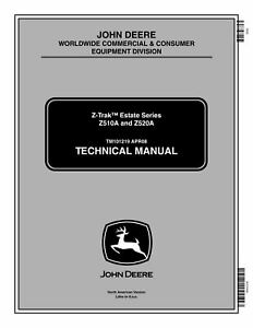 John Deere Z510a Z520a Mower Service Manual