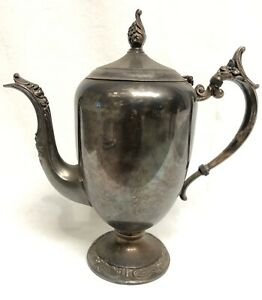 Vintage F B Rogers Silver Co Trademark 1883 Coffee Tea Pot Silver Plated