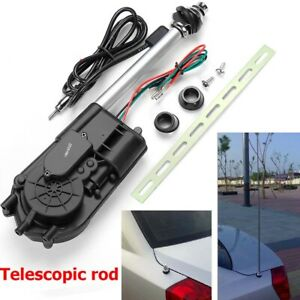 Auto Car 12v Power Electric Am Fm Radio Signal Mast Aerial Antenna Kit Us Ship U