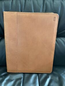 Vintage Hartmann Leather Folio Zippered Notepad Holder Lightly Used