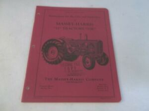 Original Massey Harris 55 55k Tractors Operation And Care Instructions 1953