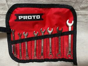 Proto J1200efs Combination Wrench Set Sae 8 Pieces 6 Points