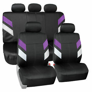 Neoprene Car Seat Covers For Auto Car Suv Van Complete Full Set Purple