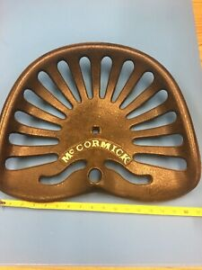 Antique Vintage Mccormick Implement Seat Horse drawn Tractor Cast Iron