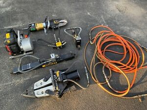 Set Hurst Jaws Of Life Extrication Hydraulic Pump Full Rescue System