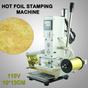 10 13cm Gold Stamping Machine Mechanical Hot Foil Leather Pu Pvc Embossing