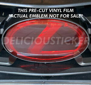 Red Precut Protection Tint Overlay Film Compatible With Lexus Emblem Is Gs Nx