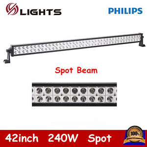 42 inch 240w Spot Led Light Bar Offroad Driving Truck Atv Bumper Lamp Ford 40 44