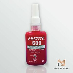 10 Loctite 609 Retaining Compound Medium Strength 50ml Free Shipping