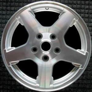 Jeep Grand Cherokee Machined W Silver Pockets 17 Inch Oem Wheel 2005 To 2007