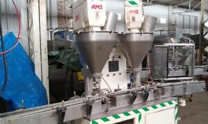 Ams Dual Head Automatic Auger Filler With Lift Tables